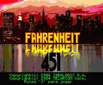 Fahrenheit 451 per MSX