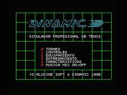 Professional Tennis Simulator per MSX