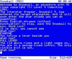 Snowball per MSX