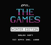The Games: Winter Edition per MSX
