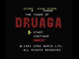The Tower of Druaga per MSX