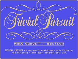 Trivial Pursuit per MSX