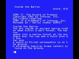 Zork II: The Wizard of Frobozz per MSX