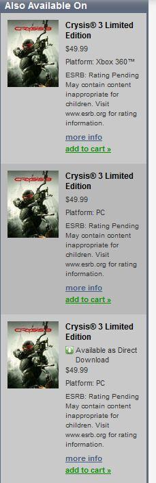 Crysis 3 compare su Origin, possibile annuncio in arrivo
