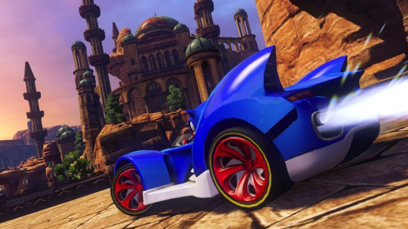 Il personaggio di Ralph Spaccatutto presente in Sonic & All-Stars Racing Transformed