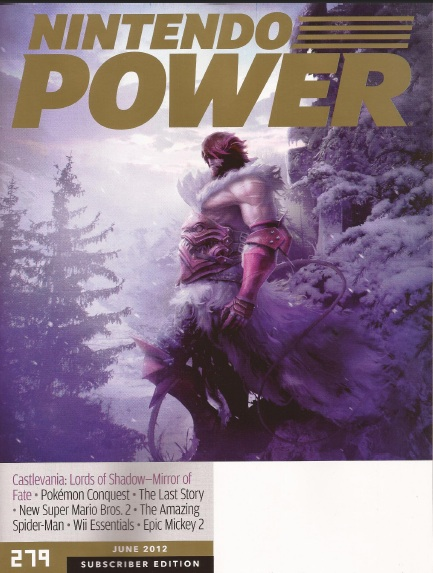 Castlevania: Lords of Shadow - Mirror of Fate sulla cover di Nintendo Power