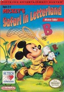 Mickey's Safari in Letterland per Nintendo Entertainment System