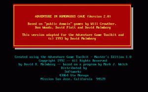 Adventure in Humongous Cave per PC MS-DOS
