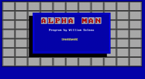 Alpha Man per PC MS-DOS