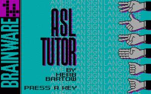 American Sign Language Tutor per PC MS-DOS