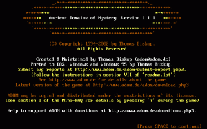 Ancient Domains of Mystery per PC MS-DOS