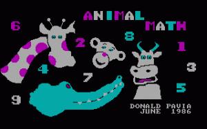 Animal Math per PC MS-DOS