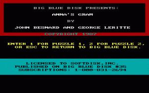 Anna's Gram per PC MS-DOS