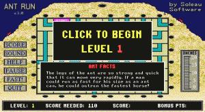 Ant Run per PC MS-DOS