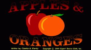 Apples & Oranges per PC MS-DOS