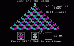 Bert and the Snake per PC MS-DOS