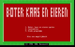 Boter, kaas en eieren per PC MS-DOS
