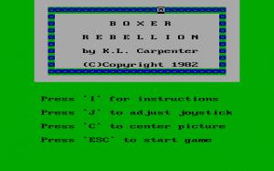 Boxer Rebellion per PC MS-DOS