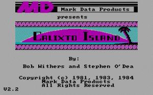 Calixto Island per PC MS-DOS