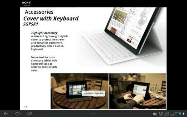 Spuntano immagini e dettagli per il nuovo Sony Xperia Tablet