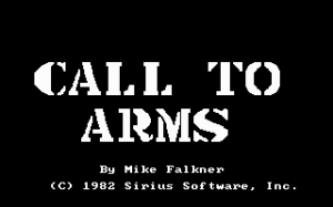 Call to Arms per PC MS-DOS
