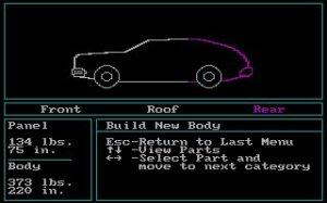 Car Builder per PC MS-DOS