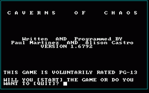 Caverns of Chaos per PC MS-DOS