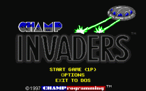 CHAMP Invaders per PC MS-DOS