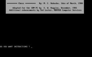 Chess per PC MS-DOS