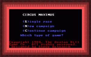 Computer Circus Maximus per PC MS-DOS