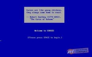 Curses per PC MS-DOS