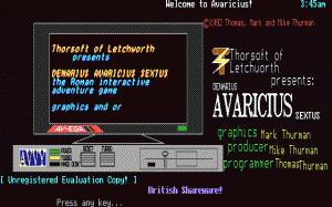 Denarius Avaricius Sextus per PC MS-DOS