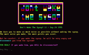 Don't Wake the SysOp per PC MS-DOS