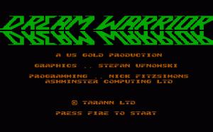 Dream Warrior per PC MS-DOS