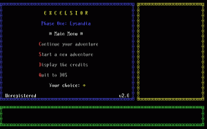 Excelsior Phase One: Lysandia per PC MS-DOS
