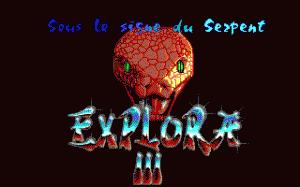 Explora III: Sous Le Signe Du Serpent per PC MS-DOS