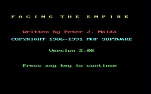 Facing the Empire per PC MS-DOS