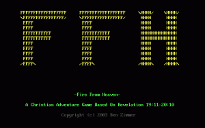 Fire From Heaven per PC MS-DOS