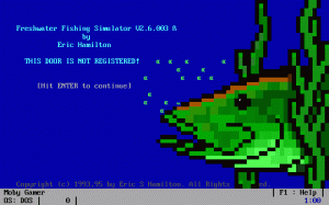 Freshwater Fishing Simulator per PC MS-DOS