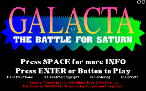 Galacta: The Battle for Saturn per PC MS-DOS