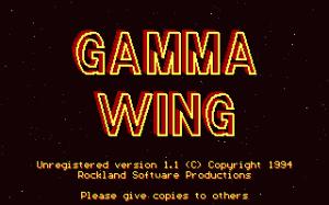 Gamma Wing per PC MS-DOS