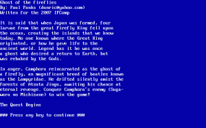 Ghost of the Fireflies per PC MS-DOS