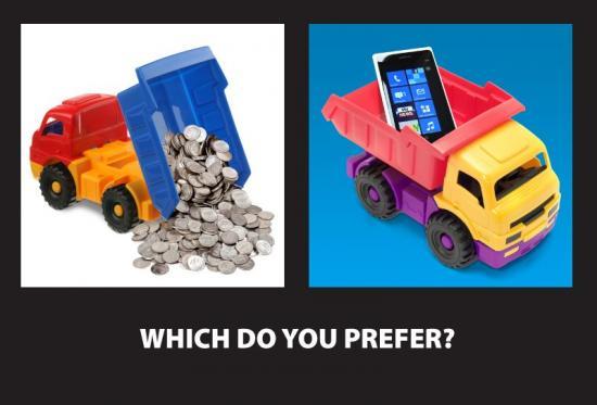 Nokia punzecchia Samsung con un'immagine ironica