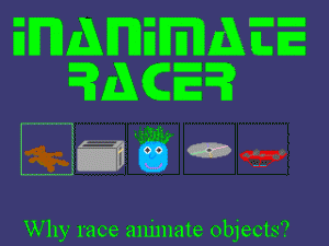 Inanimate Racer per PC MS-DOS