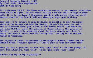 Jesus of Nazareth per PC MS-DOS