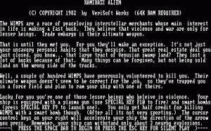 Kamikazi Alien per PC MS-DOS