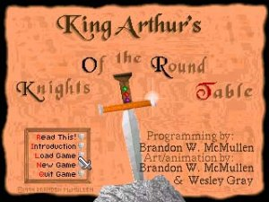 King Arthur's Knights Of the Round Table per PC MS-DOS