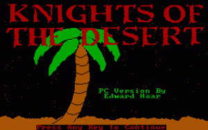 Knights of the Desert per PC MS-DOS