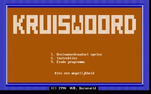 Kruiswoord per PC MS-DOS