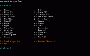 Linley Henzell's Dungeon Crawl per PC MS-DOS